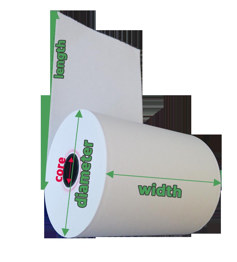 measure thermal paper roll